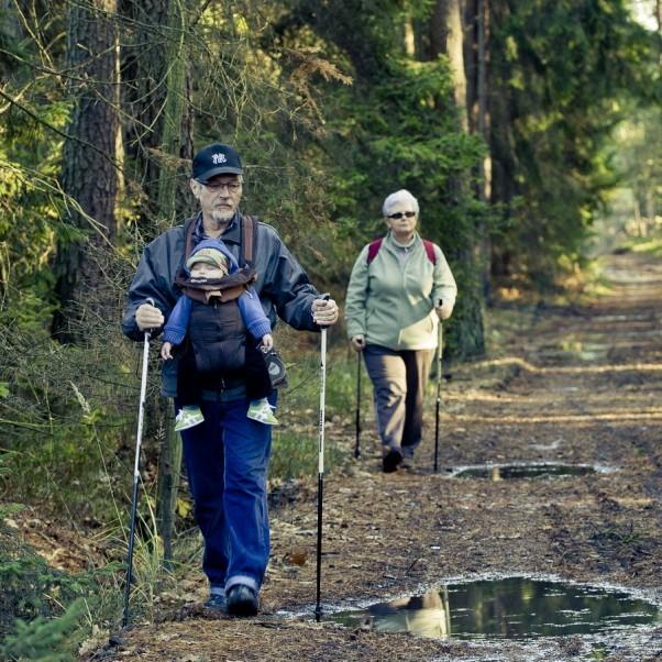 Nieurazowy sport, przyroda i maleństwo, dziadkowanie jak się patrzy!