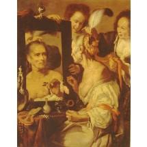 Stara kobieta przed lustrem,  Strozzi Bernardo (XVII w.). Obraz znajduje się w Muzeum Sztuk Pięknych im. A.S. Puszkina w Moskwie