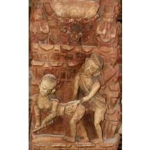 Erotyczna rzeźba w Katmandu Durbar Squre