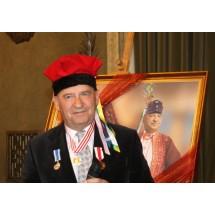 Leszek Mazan, pierwszy Polak odznaczony medalem Jarosława Haszka, dziennikarz, podczas swojego jubileuszu w sali obrad krakowskiego magistratu
