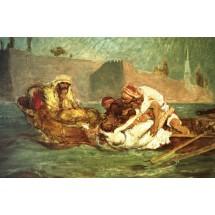 Utopiona w Bosforze, Jana Matejki. Istnieją dwie wersje z 1872 i 1880r. Obraz powstał pod wpływem opowieści Polaku w Konstantynopolu,który związał się z kobietą z haremu, za co niewierną utopiono. W roli topionej odaliski Matejko obsadził żonę.