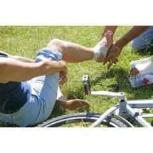 Drobny wypadek na rowerze może się zdarzyć każdemu